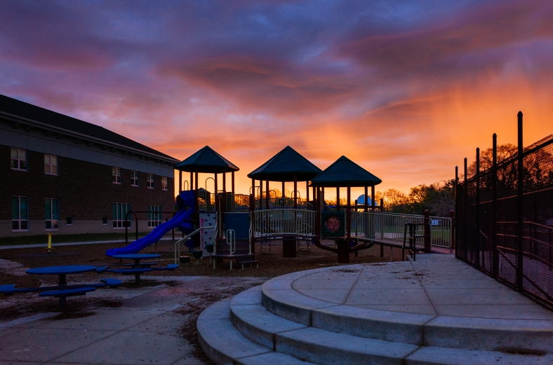 Ottawa Hills school sunrise