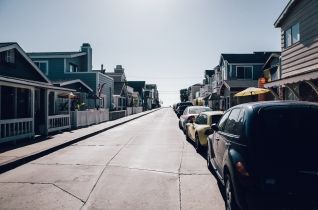 City Street in Newport Beach