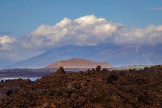 lava field Maui background