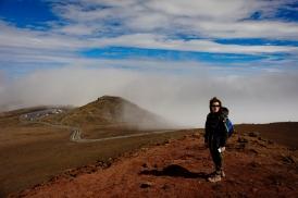 Simona atop Haleakala