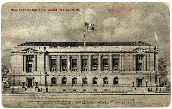 Old Fed Building Postcard